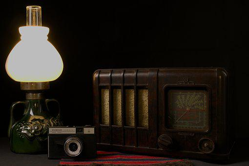 Replacement Lamp, Old, Radio, Camera, Relic, Memory