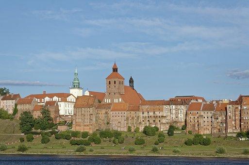 Poland, Grudziądz, Grudziadz, Vistula, Old Town