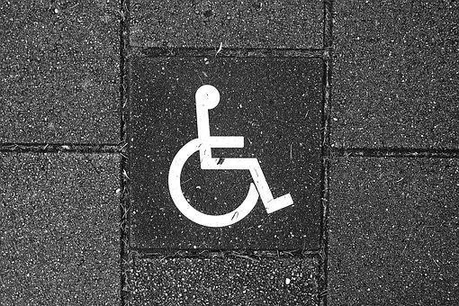 Wheelchair, Vehicle, Pavement, Tile, Alert, Pictograph