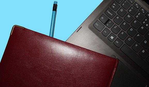 Desktop, Business, Laptop, Pencil, Diary, Computer