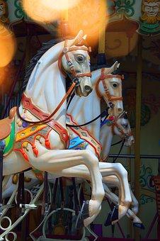 Rocking Horse, Game, Old, Stylish, Horses, Plastic Toy