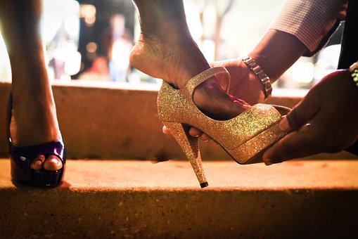 People, Adult, Woman, Cinderella, Sparkle, Shoe, Shoes