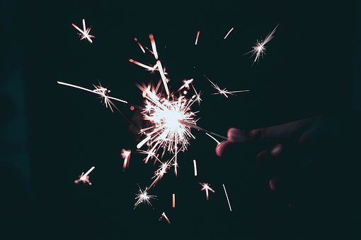New Year, New Year's Eve, Firework, Sparkler, Light