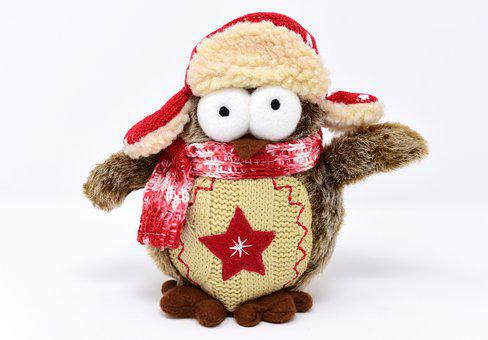 Owl, Teddy Bear, Stuffed Animal, Bird, Toys, Sweet