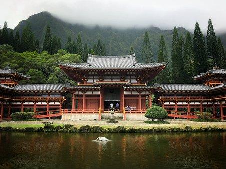 Lake, Travel, Water, Pagoda, Temple
