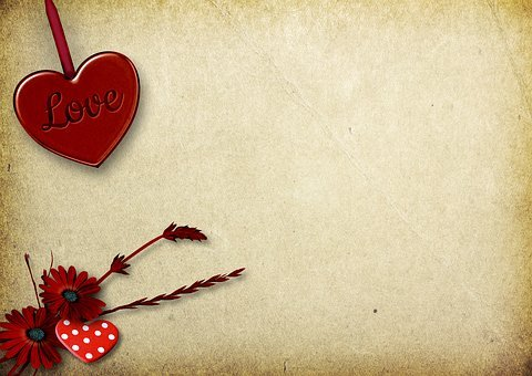 Heart, Paper, Background Image, Valentine's Day
