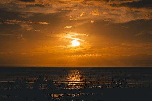 Sunset, Dawn, Sky, Water, Sea, Dusk, Evening, Landscape