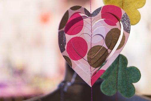 Heart, St Valentine, St Valentin, Red, Paper, Wedding