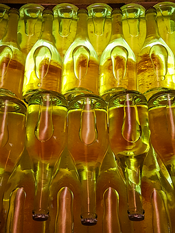 A Bottle Of, Sparkling, Champagne, Wine, Wine Cellar