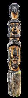 Holzfigur, Totem, Ethnic, Art, Carved, Wood, Decoration