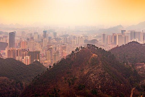 Guiyang, Large Luo Ling, A Bird's Eye View, City