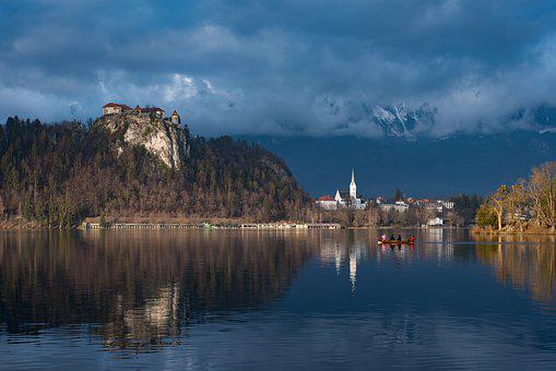 Bled, Slovenia, Castle, Body Of Water, Nature, Lake