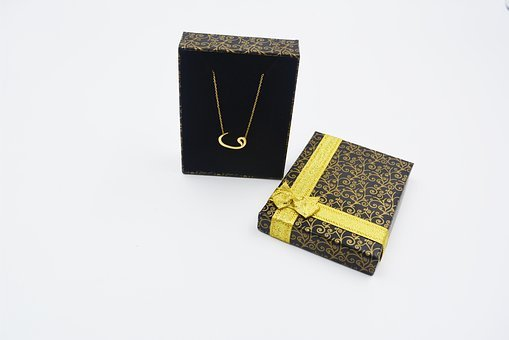 Gold, Necklace, Wow, Gift, Box, Jewelry, Precious