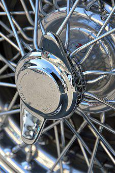 Wheel, Chrome, Steel, Iron, Metallic, Bright
