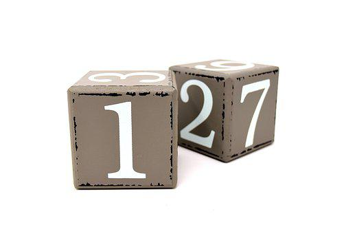 Cube, Pay, Clogs, Wood, Calendar, Numbers