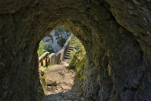 Tunnel, Rock, Trail, Nature, Bridge, Danube Valley