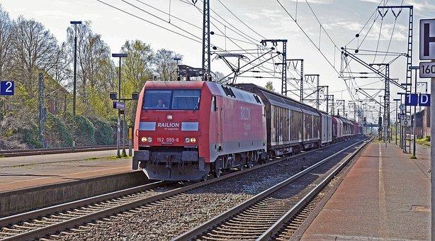 Freight Train, Deutsche Bahn, Db, Transit
