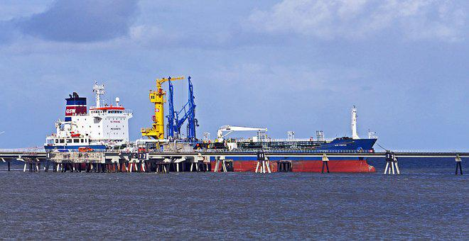 The Outer Port, Sea Bridge, Oil Port, Tanker, Discharge
