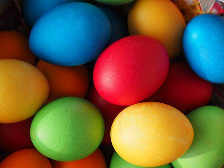 Easter Eggs, Easter Eggs Colors, Color, Yellow, Orange