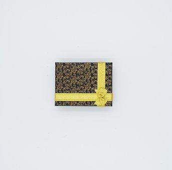Gift, Box, Yellow, Pattern, Packing