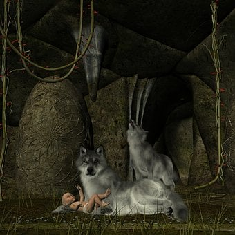 Wolf, Baby, Elf, Cave, Forest, Gorge, Dangerous