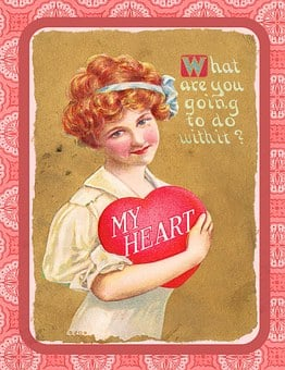Valentine, Vintage, Love, Heart, Box, Chocolate, Gift