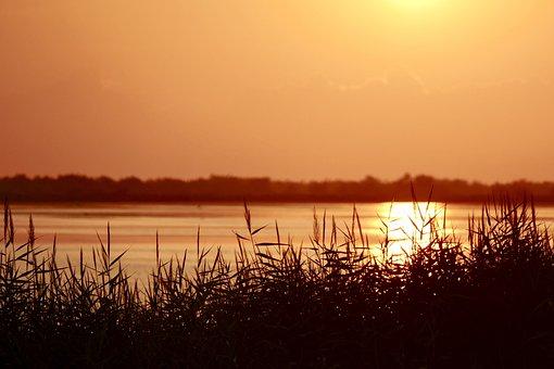 Sunset, Waters, Dawn, Reflection, Landscape, Lake, Sea