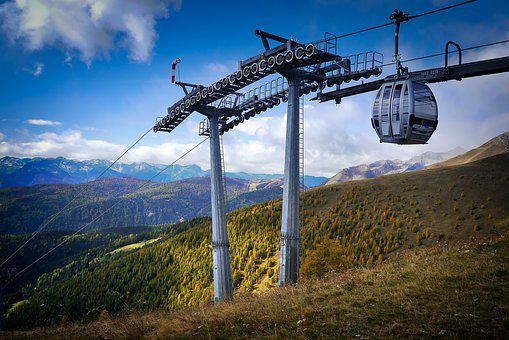Sky, Mountain, Nature, Landscape, Lift, Gondola