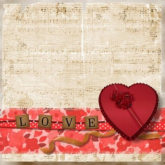 Background, Love, Vintage, Heart, Valentine, Box