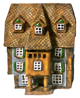 Model, House, Ceramic House, Home, Ceramic, Middle Ages