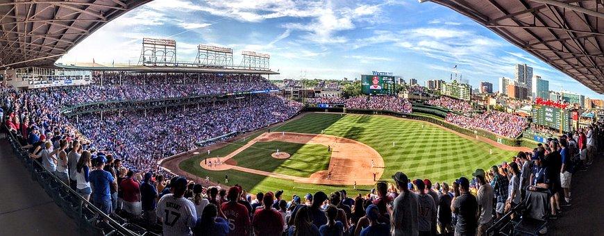 Panoramic, Field, Horizontal Plane, Outdoors, Stadium