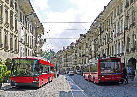 Bern, Old Town, Justice Lane, Pedestrian Zone