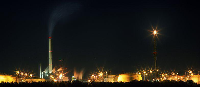 Smoke, Flare-up, Natural Gas, Industry, Pollution