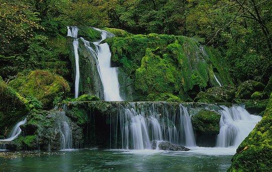 Water, Waterfall, Nature, Stream, River