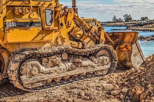 Caterpillar, Heavy Machine, Vehicle, Scoop, Bulldozer