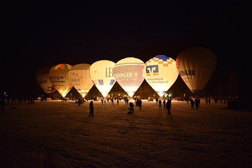 Horizontal, Balloon, Sky, Dusk, Light, Evening