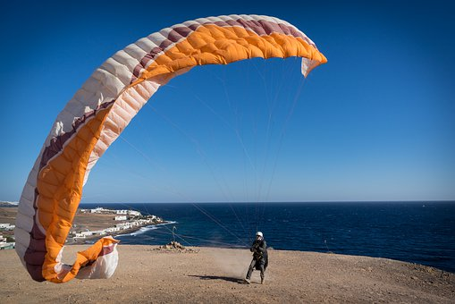 Sky, Waters, Sea, Travel, Beach, Paragliding, Sport
