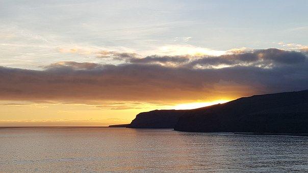 Waters, Sunset, Panorama, Dawn, Nature, Landscape, Sea