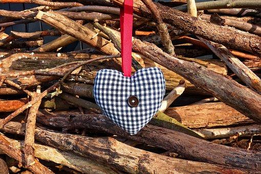 Heart, Stuffed, Stuffed Heart, Love, Symbol, Decoration