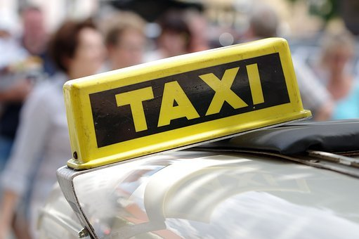 Auto, Taxi, Taxi Sign, Yellow Cab, Traffic