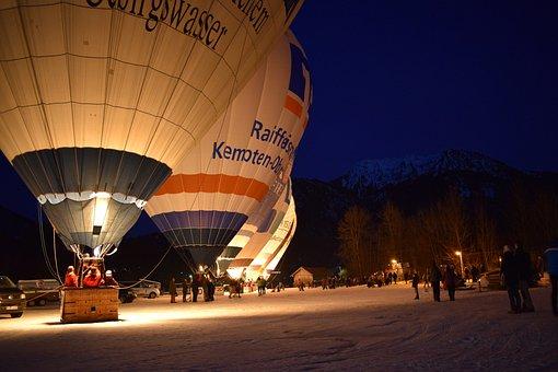 Balloon, Transport System, Human, Travel, Sky, Dusk