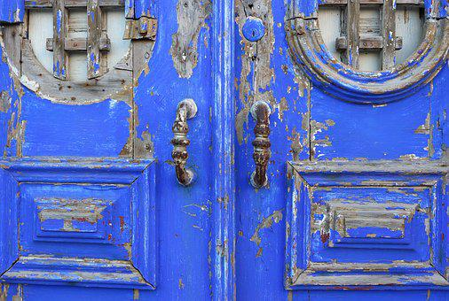 Portugal, Lisbon, Door, Vintage, Architecture, Travel