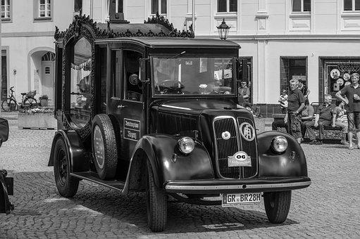 Vehicle, Auto, Hearse, Oldtimer, Transport, Truck