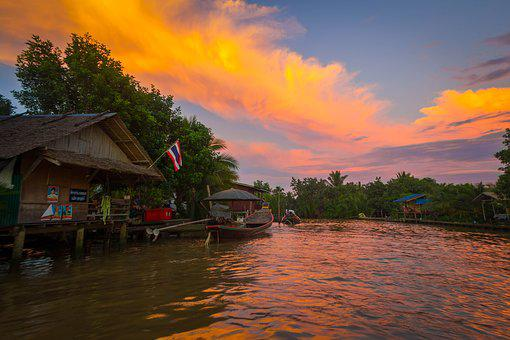 River, Life, Thailand, Lifestyle, View, Flush, Water