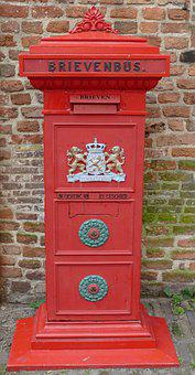 Mailbox, Letter, Old, Classic, Antique, Vintage, Red