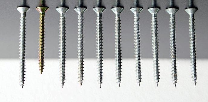 Tool, Screw, Closure, Background, Steel, Metal