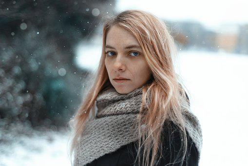 Nature, Winter, Cold, Beautiful, Outdoors, Woman, Snow