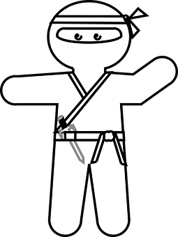 Ninja, Japanese, Cartoon, Character, Weapon, Warrior