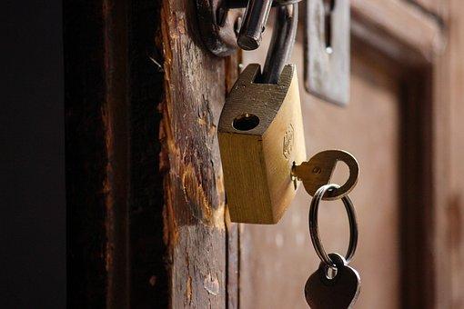 Door, Lock, Security, Old, Rusty, Iron, Dark