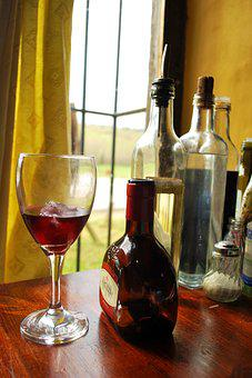 Wine, Drink, Glass Container, Alcoholic Beverage